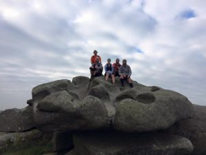 Cornwall Running guides guided group on tor